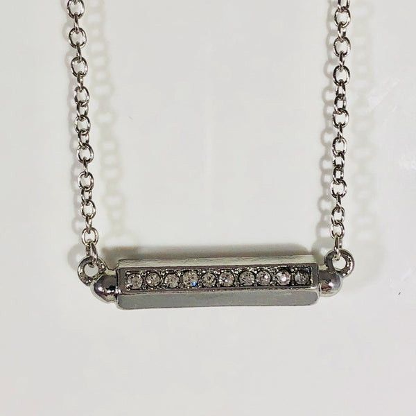 Shining Bar with CZ Necklace
