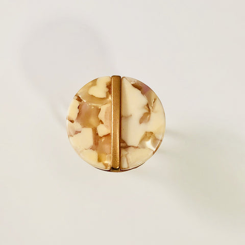 Blush Celluloid Ring
