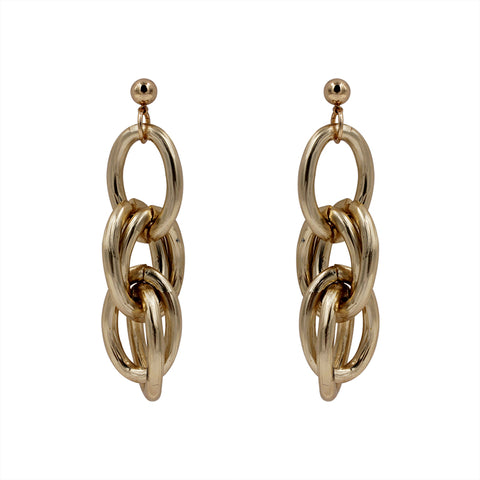 Gold Chain Link Dangle Earrings