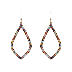 Multi-colored Glass Beaded Dangle Earring