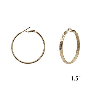 Thick Gold Hoop Earring