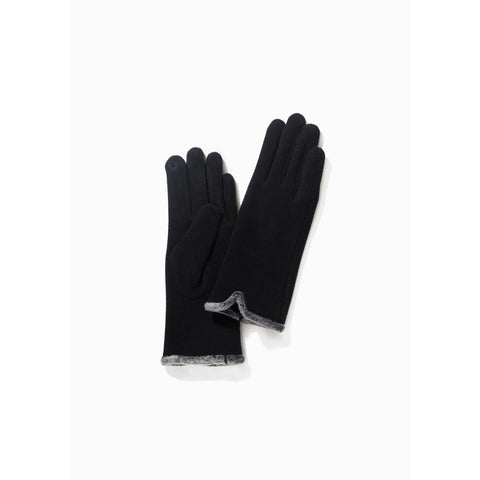 Fur Trimmed Soft Gloves