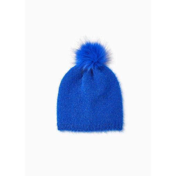 Shiny Feather Pom Pom Hat