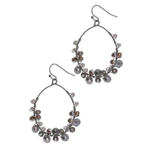 Refreshing Beaded Hoop Earring