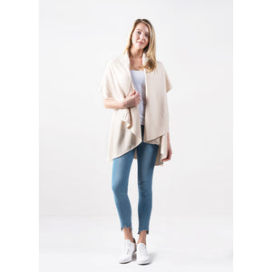 4 in 1 Knit Shawl Vest Cream