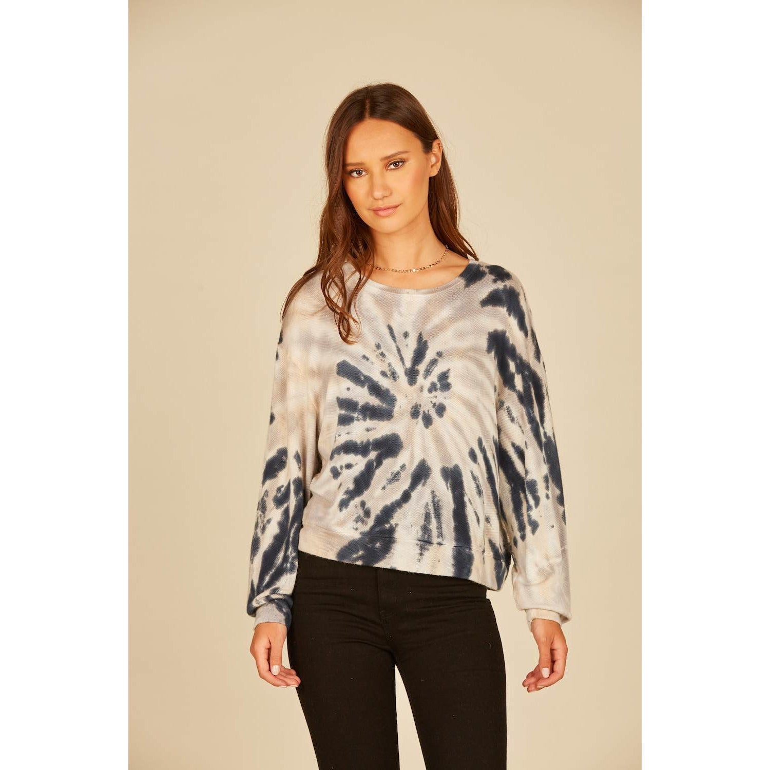 Swirl Tie Dye Long Sleeve Top