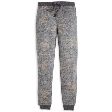 Field Camo Print Cozy Fleece Jogger