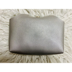 Classic Silver Metallic Pouch