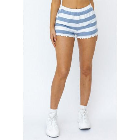 Cabana Stripe Shorts in Blue and White