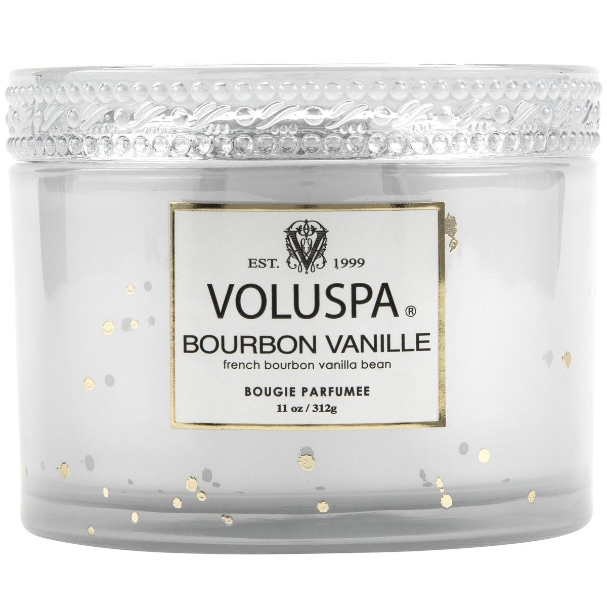 Bourbon Vanilla 11oz Corta Maison Glass Candle with Lid Box