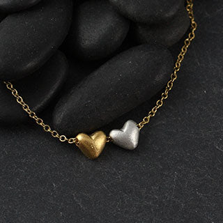 Double Baby Heart Necklace