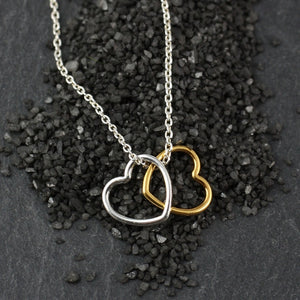 Double Simply Hearts Necklace