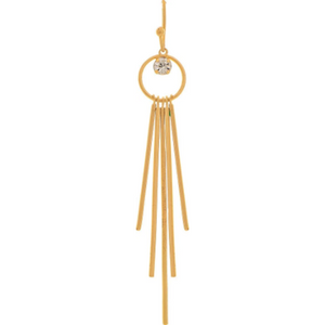Gold Crystal Sticks Drop Earring