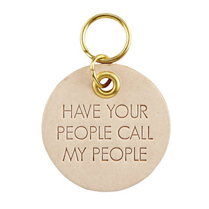 Leather Pet Tags : Call My People
