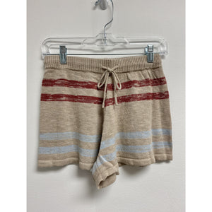 Knit Shorts With Muted Stripes
