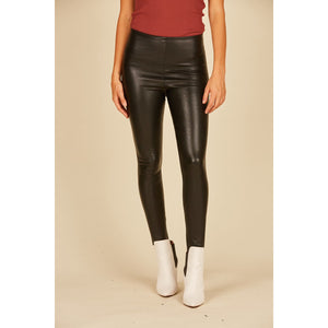 Black Vegan Leather Legging