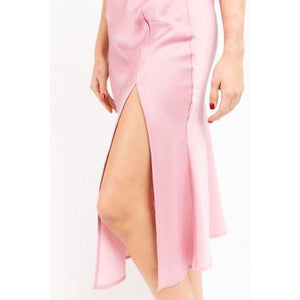 Bais Midi Skirt with Slit in Mauve