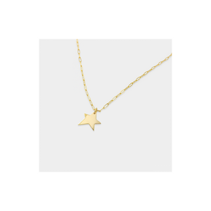 Paperclip Chain Gold Star Necklace