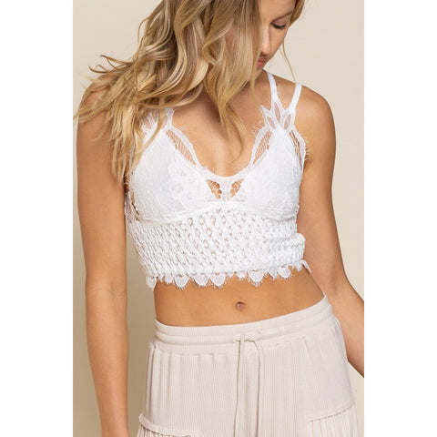White Lace Strappy Bralette