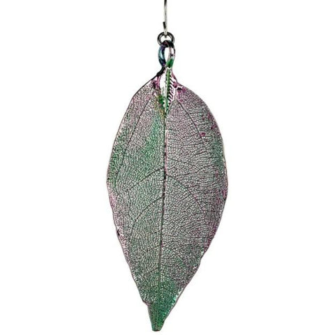 Colored Natural Leaf Earring