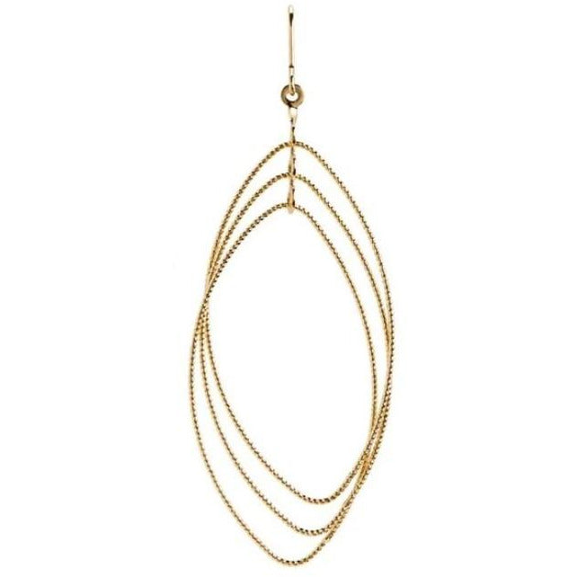 Gold Layer Oval Earring