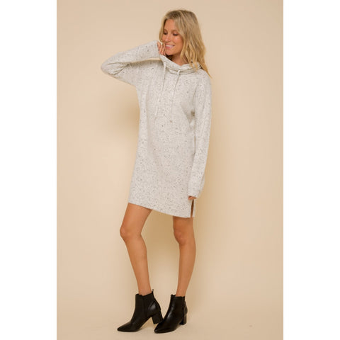 Soft Spackle Cowl Neck Knit Dress