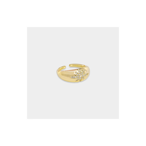Gold CZ Eye Ring