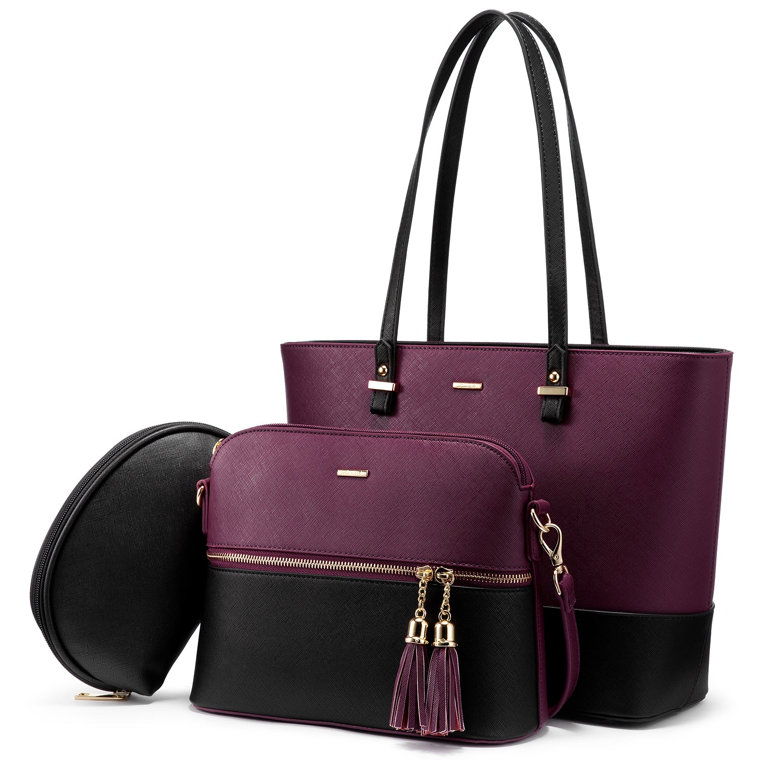 LOVEVOOK Tote Satchel Hobo 3pcs Handbag Purses Set