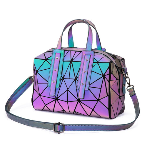 LOVEVOOK Geometric Luminous Boston Crossbody Handbag