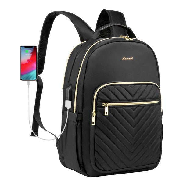 LOVEVOOK Quilted Laptop Backpack Stylish Laptop Bag for Women