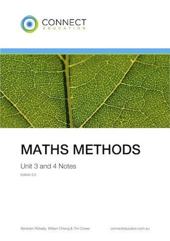 VCE Unit 3 and 4 Maths Methods Notes