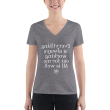 Mirror Affirmations Series 'All is well' Women's Deep V-neck Tee