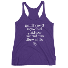 Mirror Affirmations Series 'All is well' Women's Tank Top