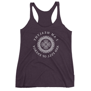 Mirror Affirmations Series 'Healthy' Women's Tank Top