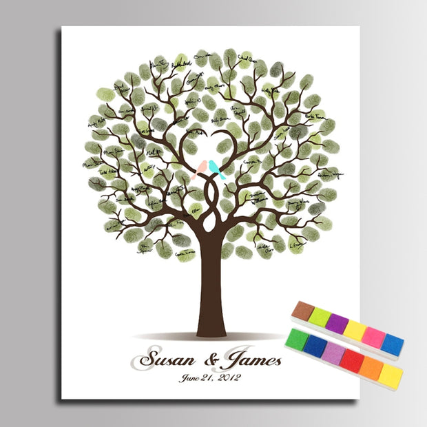 Fingerprint Tree Painting Guest Book – Bride Whisperer