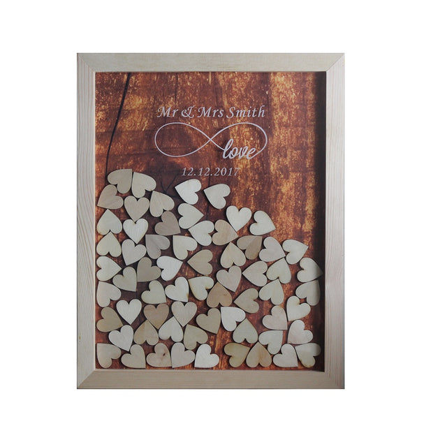Personalized Multi-Colors Rustic Drop Top Wooden Wedding Guest ...