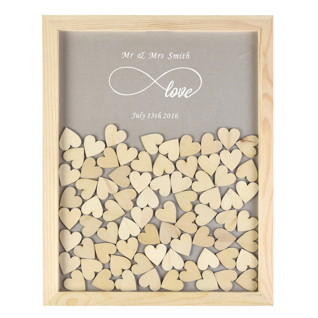 Rustic Wedding Guest Book With 120pcs Small Hearts Wedding