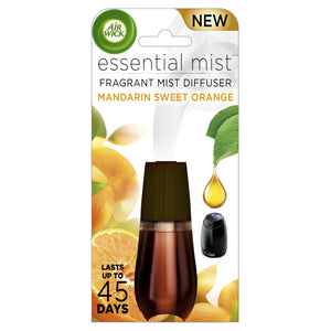 Essential Mist Fragrance Oil Diffuser Refill, Mandarin & Sweet Orange, 1ct