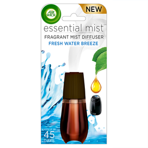 Essential Mist Fragrance Oil Diffuser Refill, Fresh Water Breeze, 1ct