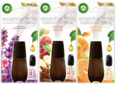 Essential Mist Multi-Fragrance Oil Diffuser Bundle, 3 Refills