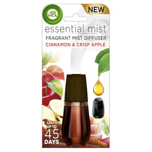 Essential Mist Fragrance Oil Diffuser Refill, Cinnamon & Apple Crisp, 1ct