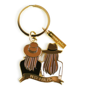 akrDesignStudio - Best Friend Keychain - Brown & Brown