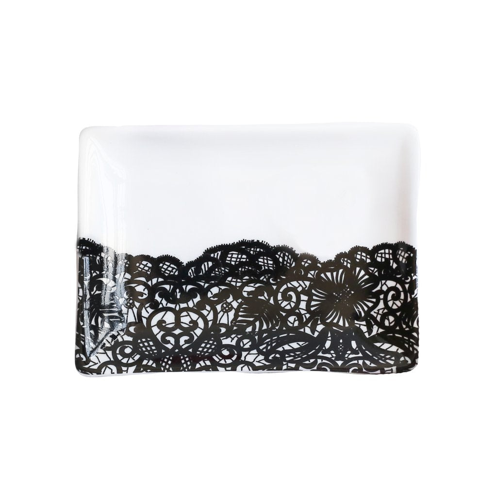 Sweet Water Decor - Black Lace Jewelry Dish
