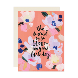 Our Heiday - The World Is In Bloom Card