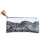 Black Lace Pencil Pouch