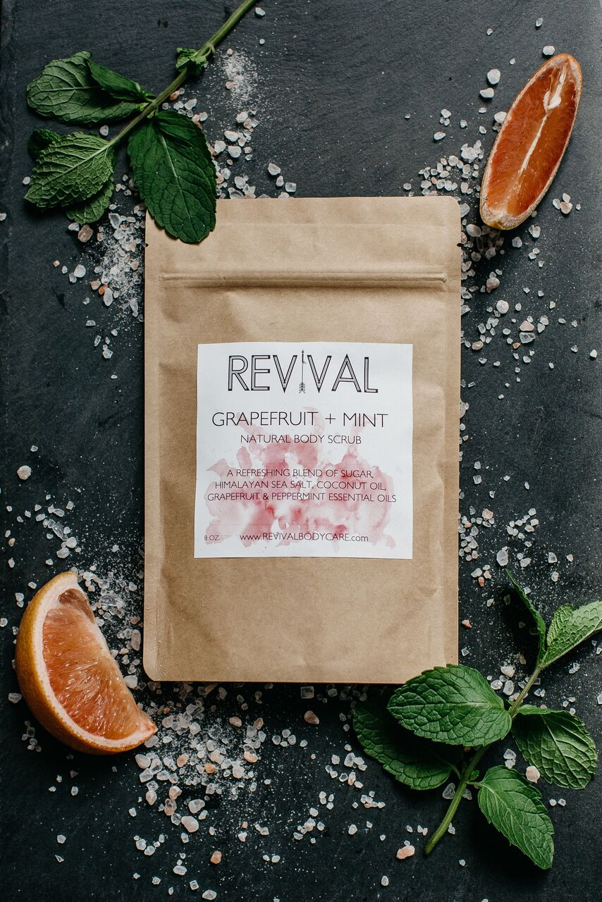 Revival Body Care - Grapefruit + Mint Body Scrub