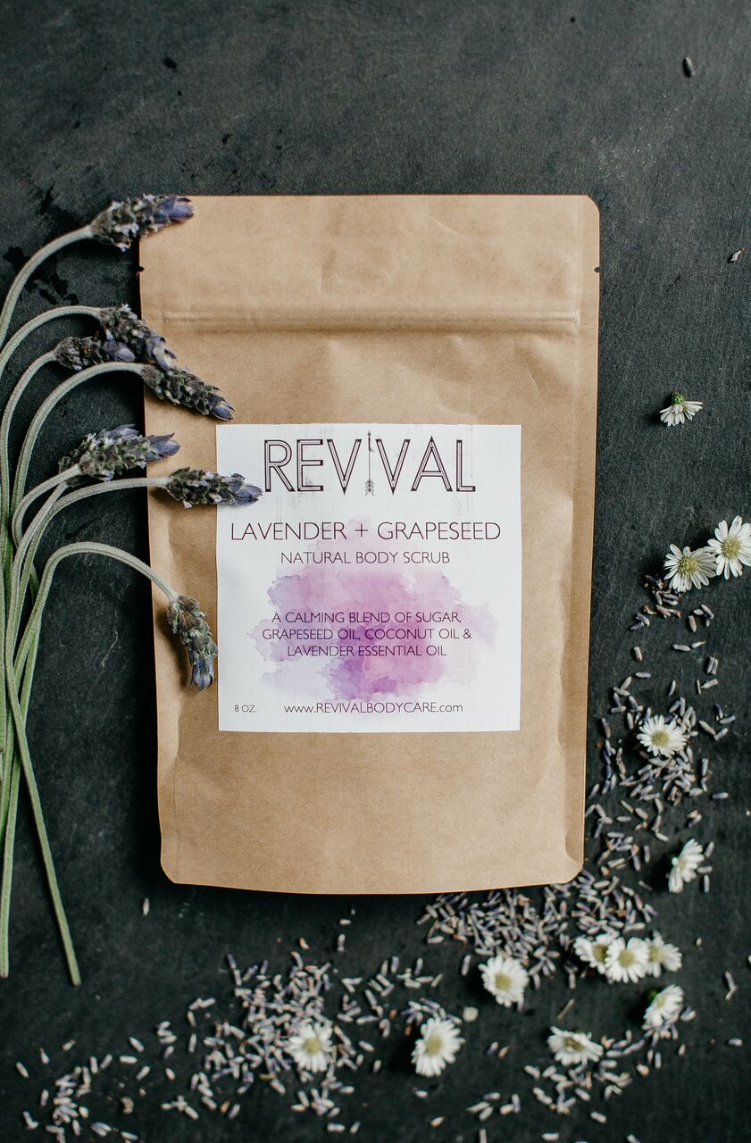 Revival Body Care - Lavender + Grapeseed Body Scrub