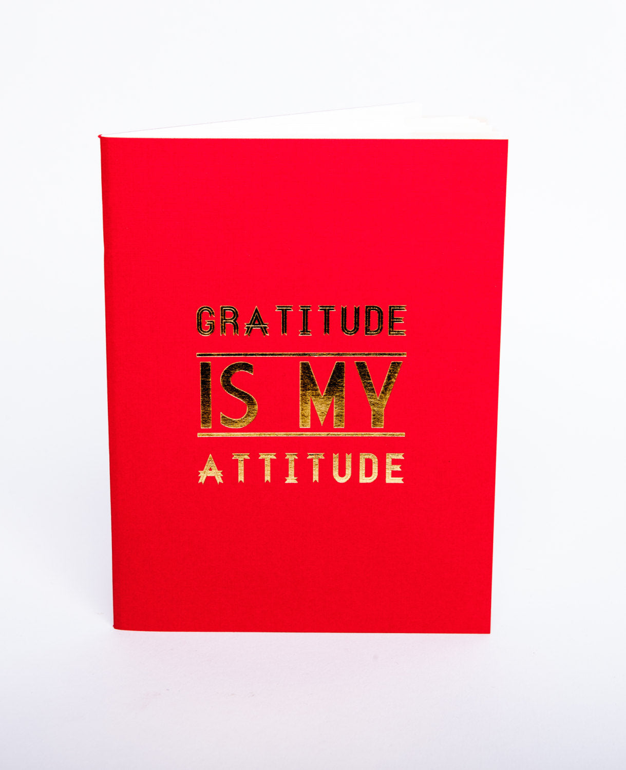 Your Joyologist - Gratitude is My Attitude Gold Foil Journal