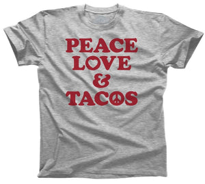 Boredwalk - Men's Peace Love and Tacos T-Shirt