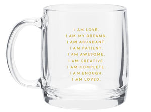 Your Joyologist - I Am Affirmation - Glass Mug